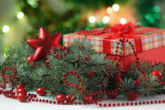 The New year's gift Royalty Free Stock Photo