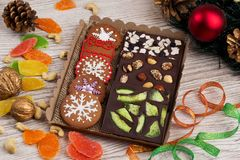 Ginger biscuits with chocolate Royalty Free Stock Photos