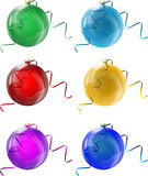 New Year's glass balls Royalty Free Stock Image