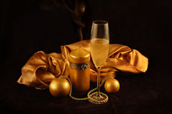 New Year's gold imagination Royalty Free Stock Image