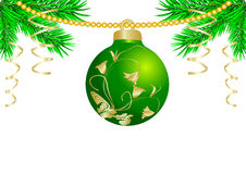 New year's green ball Stock Image
