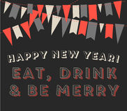 New Year's Greeting Card Royalty Free Stock Photography