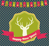 New Year's Greeting Card Stock Photos