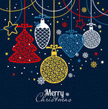 New Year's greeting card merry Christmas. royalty free illustration