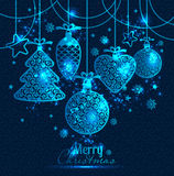 New Year's greeting card merry Christmas. Royalty Free Stock Image