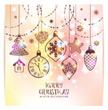 New Year's greeting card merry Christmas. Royalty Free Stock Images