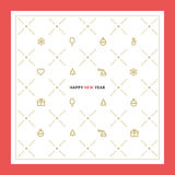 New Year's greetings on the business theme Stock Photos