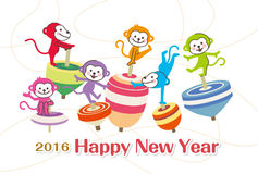 New Year's greetings 2016 royalty free illustration