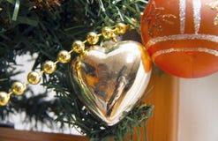 New Year`s Heart.Decoration.2019.Metallic paint. New Year`s Heart.Decoration.2019 royalty free stock photography