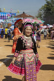 New Year's Hmong tribes royalty free stock photo