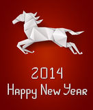 New Years horse Stock Photo