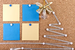 New Year's ideas corkboard Stock Photo
