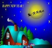New year's illustration Royalty Free Stock Photos