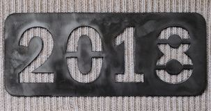 The new year`s inscription 2018 . stock images