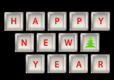 New Year's keyboard Stock Photography