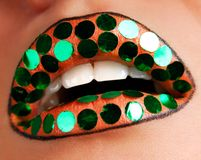 New Year's lips Stock Images
