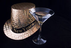 New Year's Martini Royalty Free Stock Photography