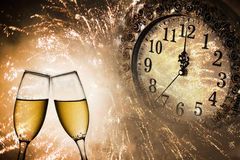 New Year's at midnight Royalty Free Stock Image