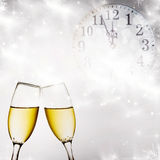 New Year's at midnight Royalty Free Stock Photos