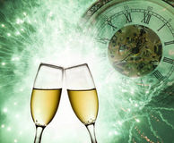 New Year's at midnight Royalty Free Stock Photo