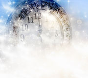 New Year's at midnight. Clock at twelve o'clock vector illustration