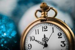New Year's at midnight. Nearly twelve o'clock. New Year's at midnight Stock Image