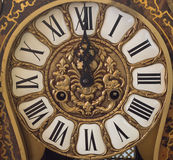 New Year's at midnight - Old clock Royalty Free Stock Image