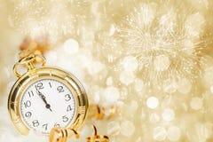 New Year's at midnight Royalty Free Stock Photo