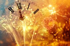 Twelve o`clock - new year`s eve Royalty Free Stock Images