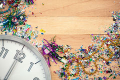 New Year's: New Year Party Celebration Background Royalty Free Stock Images