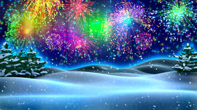 New Year's night Royalty Free Stock Photos