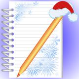 New Year's notebook Royalty Free Stock Photos