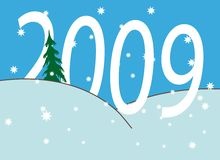 New Year's numbers. New Year's and Christmass collection of illustrations royalty free illustration