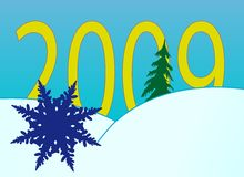New Year's numbers with snowflakes. New Year's and Christmass collection of illustrations vector illustration