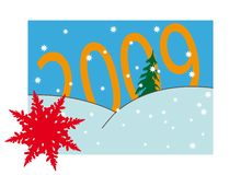 New Year's numders. New Year's and Christmass collection of illustrations royalty free illustration