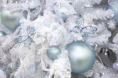 New Year's ornament of a fur-tree Royalty Free Stock Photos