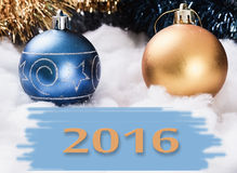New Year's ornaments 2016.  Stock Photography