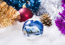 New Year's ornaments Pine cone.  Royalty Free Stock Image
