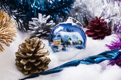 New Year's ornaments Pine cone.  Stock Photos