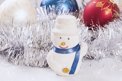 New Year's ornaments snowman.  Royalty Free Stock Photo