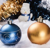 New Year's ornaments snowman.  Stock Photo