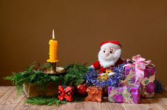 New Year's packages, ornaments Stock Image