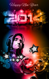 2014 New Year's Party background for Club Flyers. ! Attractive design with rainbow colours stock illustration