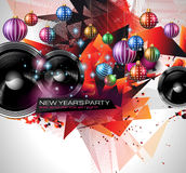New Year's Party Flyer design for nigh clubs event Stock Images