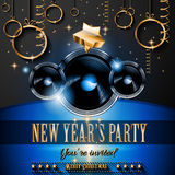 2015 New Year's Party Flyer design for nigh clubs Royalty Free Stock Photos