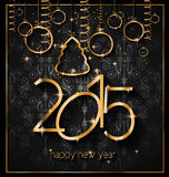 2015 New Year's Party Flyer design for nigh clubs Stock Images