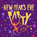 New year's Party  illustration Stock Photos