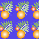 New Year's pattern. On a blue background royalty free illustration