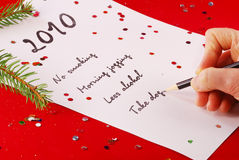 New Year's planning Stock Images