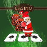 New Year`s Poker casino. happy new year stock illustration